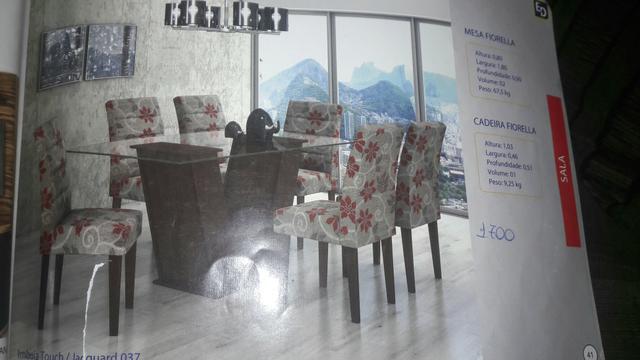 Sala De Jantar Lopas Fiorella ~ sala de jantar 6 cadeiras fiorella mesa fiorella alt 0 80 larg 1 80