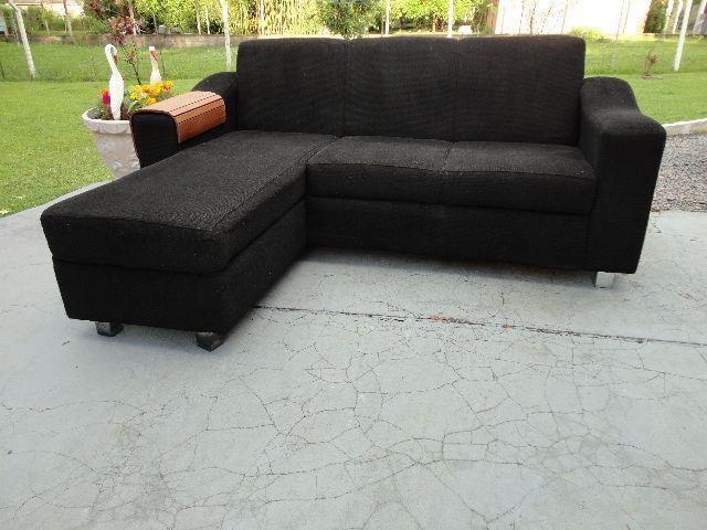 Sofa 5 lugares com chaise lado direito couro sintetico for Sofa 03 lugares com chaise
