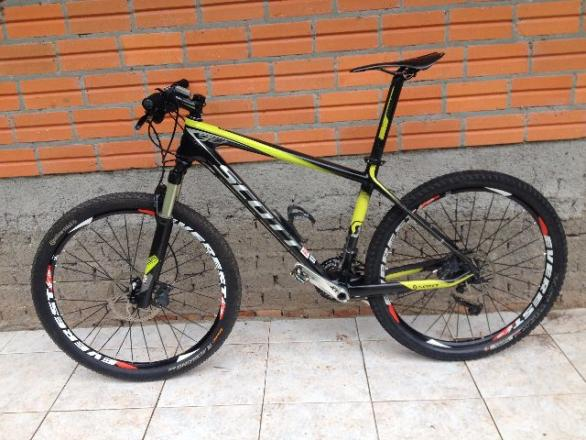 Bike Bicicleta Scott Scale 30 Shimano Xt Carbono M Aro 26