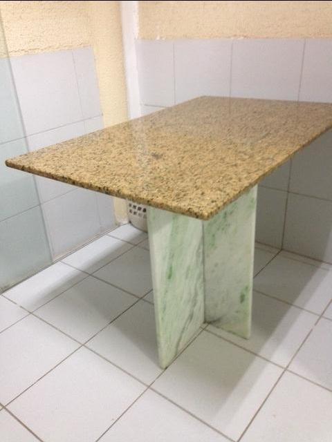 Pe de mesa tampo de vidro marmore e granito vazlon brasil - Mesa de granito ...