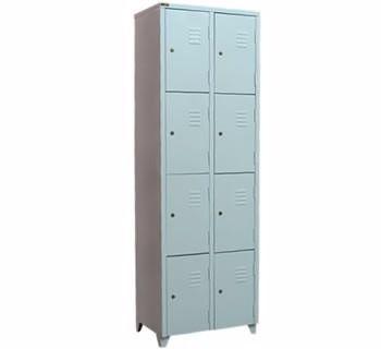 Armario para vestiario em mdf branco portas com chave for Armario vestiario 8 portas