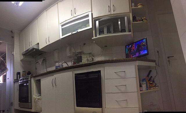 Armario De Cozinha Todo Branco : Armarios de cozinha planejado branco e preto vazlon brasil