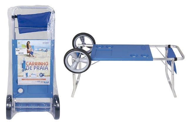 Carrinho para carregar guarda sol e cadeiras de praia vazlon brasil - Carro para playa transportar sillas ...