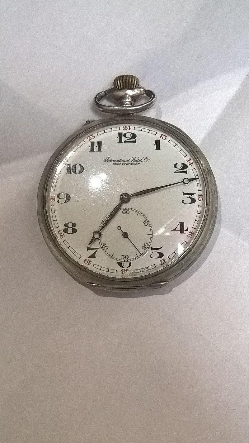 22f4681bcc0 Relogio iwc de bolso caixa em prata 20 linhas porcelana