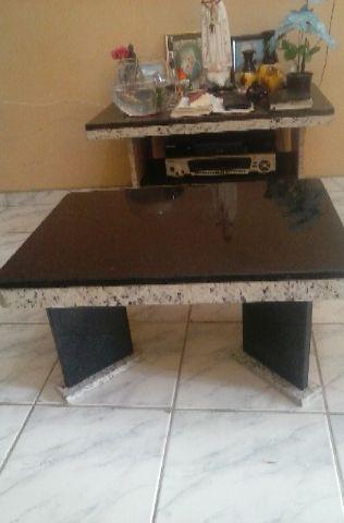 Mesa de centro em granito preto vazlon brasil - Mesa de granito ...