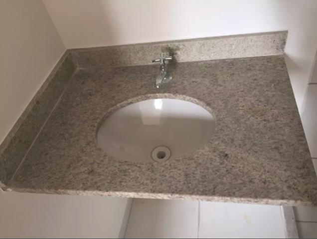 pia sem uso com tampo granito branco siena  Vazlon Brasil -> Pia De Banheiro Aquario