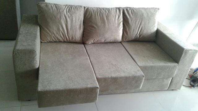 Sofa retratil tres lugares 6 meses de uso vazlon brasil - Sofa para tres ...