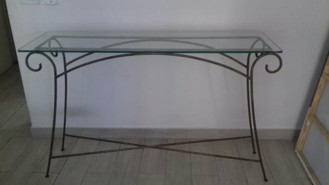 Aparador Tabaco Com Tampo De Vidro ~ lindo aparador ferro ouro velho com tampo de marmore Vazlon Brasil