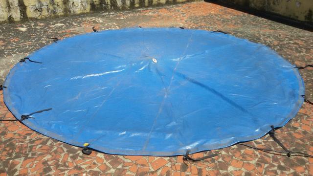 Piscina lona reforcada lt redonda 8 lados marca vazlon for Lona piscina redonda