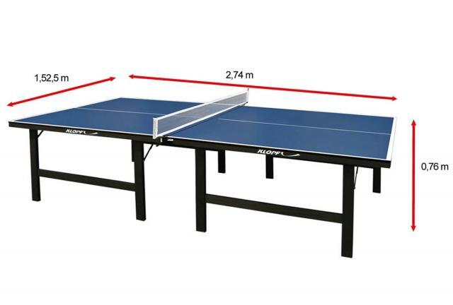 Mesa de ping pong tamanho oficial da marca klopf vazlon for Mesa de ping pong usada