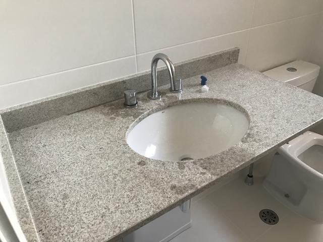 oportunidade pia para banheiro em marmore com cuba dupla  Vazlon Brasil -> Limpeza De Pia De Banheiro
