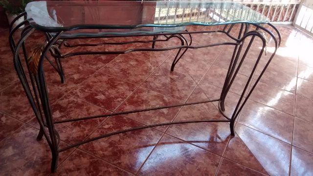 Fita Adesiva De Alto Impacto ~ mesa em ferro com pintura em ouro envelhecido Vazlon Brasil