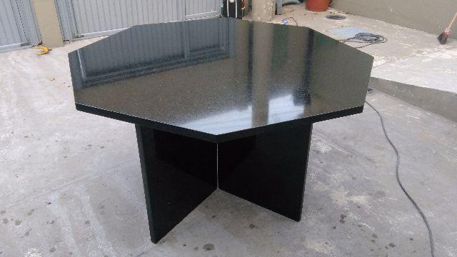 Mesa em madeira e granito 6 lugares vazlon brasil - Mesa de granito ...