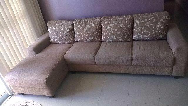 Sofa de 3 lugares almofadas fixas marca nobel vazlon brasil for Sofa 03 lugares com chaise