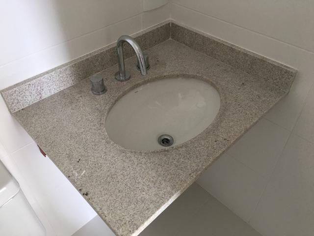 lavabo em granito branco itaunas ccuba em louca  Vazlon Brasil -> Cuba Pia Banheiro Granito