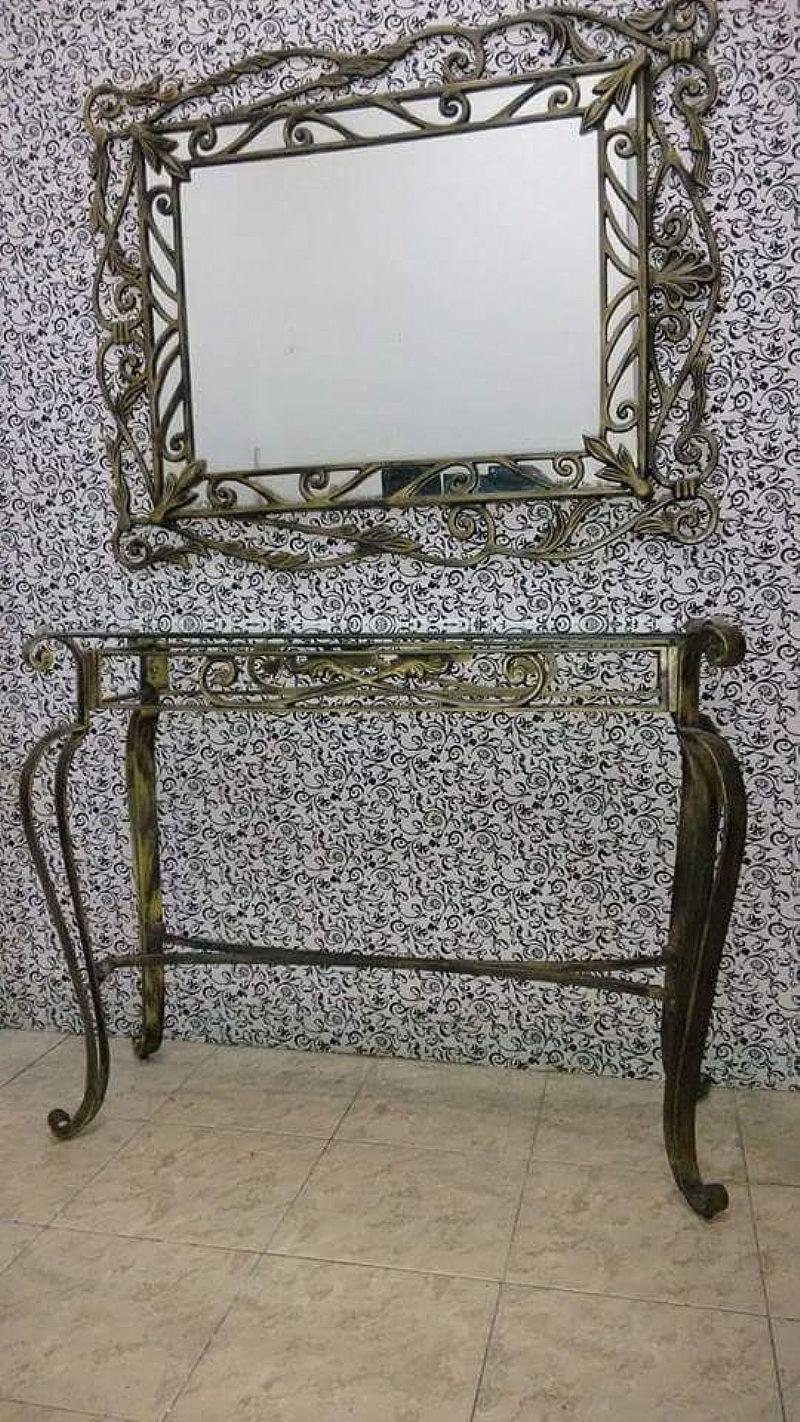 Aparador Com Espelho De Ferro ~ aparador espelho com moldura em ferro envelhecido
