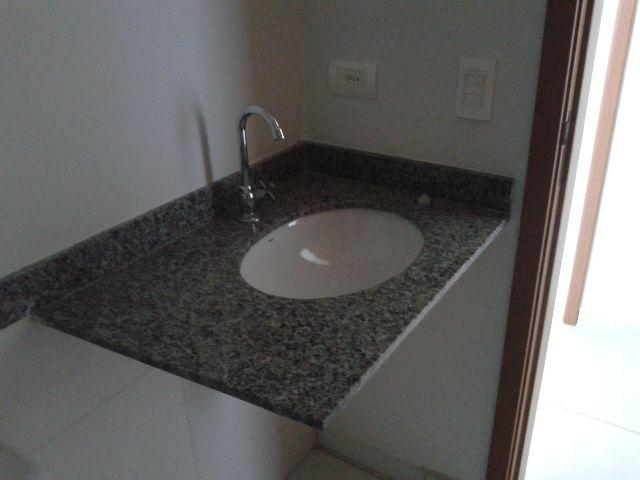 pia banheiro granito cinza corumba cuba louca torneira  Vazlon Brasil # Cuba Pia Banheiro Granito