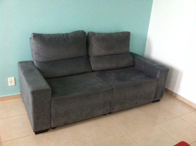Sofa 3 lugares retratil lagos cinza escuro divina decor rb for Sofa 03 lugares retratil e reclinavel