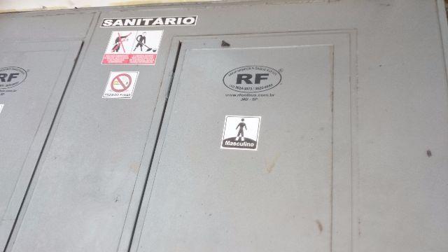 placa de identificacao para banheiro feminino e masculino  Vazlon Brasil -> Banheiro Quimico Feminino