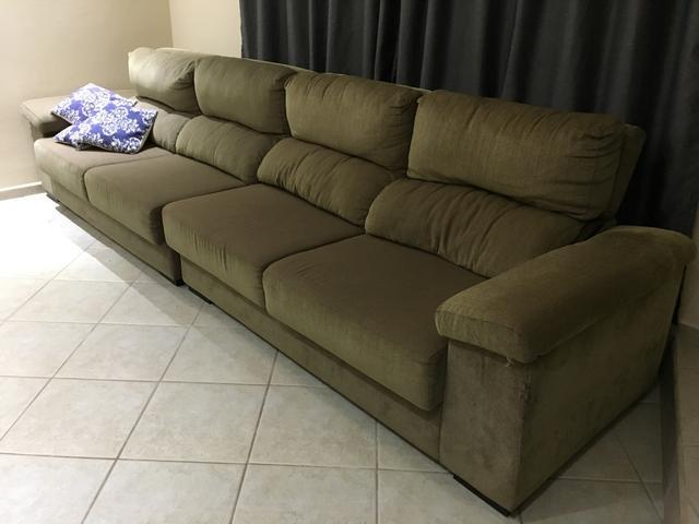 Sofa chaise 3 lugares 3 metros barato vazlon brasil for Sofa 03 lugares com chaise