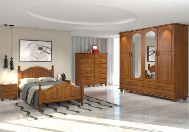 Dormitorio de casal completo madeira macica vazlon brasil for Dormitorio completo