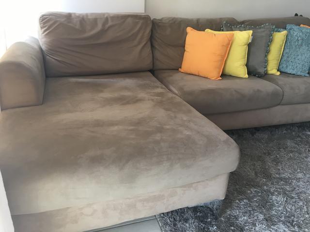 Lindissimo sofa lugares com chaise longo muito vazlon brasil for Sofa 03 lugares com chaise