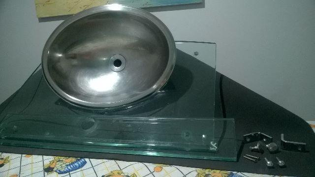 cuba para pia de granitoem aco inox medida xx  Vazlon Brasil -> Cuba Banheiro Inox