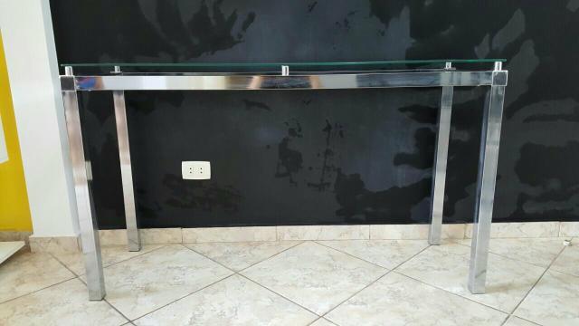 Armario Madeira Cozinha ~ aparador inox e vidro Vazlon Brasil