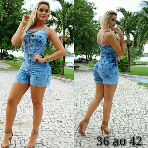 614b16139c035e macaquinho jeans denim zero curto com babado feminino [ OFERTAS ...