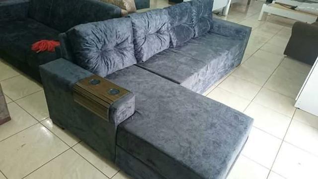 Sofa 3 lugares american comfort america com chaise lado for Sofa 03 lugares com chaise
