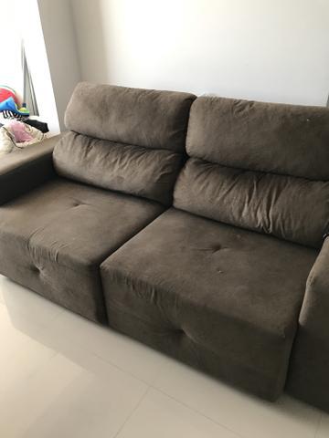 sofa retratil com catraca sylvia design 3lugares [ OFERTAS ...