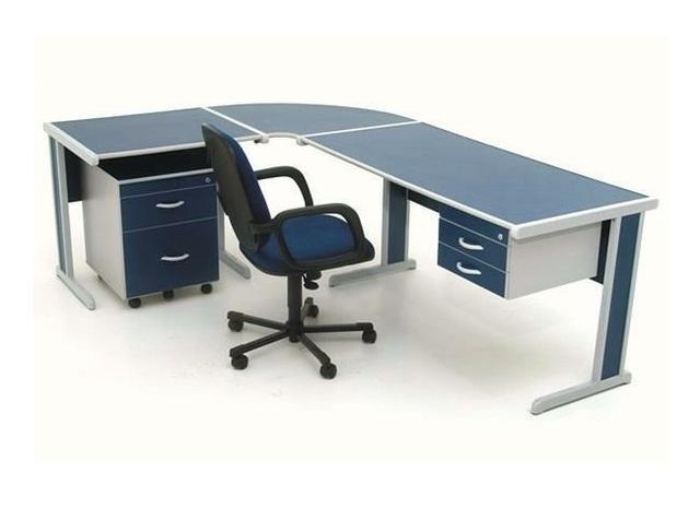 Mesa em l com balcao para escritorio em mdf r ofertas for Mesa escritorio l