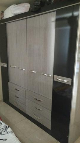 Armario de madeira com portas e 6 gavetas ofertas for Armario 6 portas