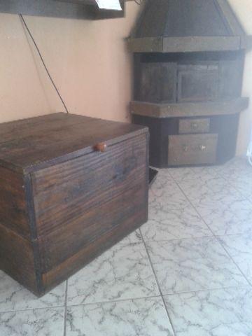 2abfea17d60 bau caixa para lenha rustica cm com encosto   OFERTAS