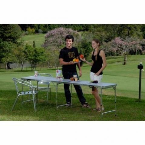 Mesa de camping brisa ofertas vazlon brasil for Mesa camping decathlon