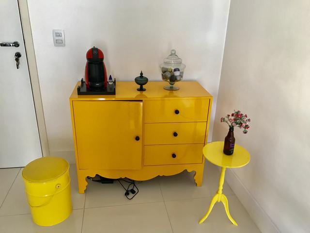Armario Escobero Aki ~ balcao retro amarelo [ OFERTAS ] Vazlon Brasil