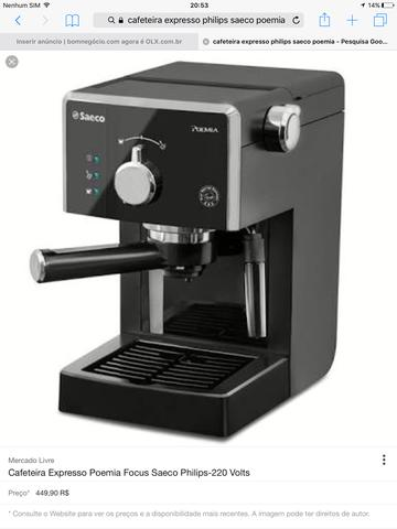 Cafeteira Expresso Philips Saeco Poemia