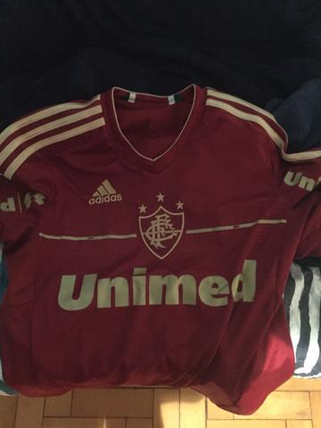Camisa Oficial Fluminense - Grena com Dourado - Tam P 6bc710e0c398c