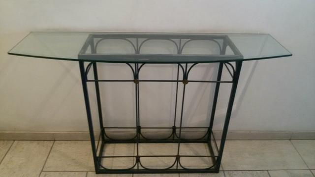 aparador ferro com tampo vidro [ OFERTAS ] Vazlon Brasil