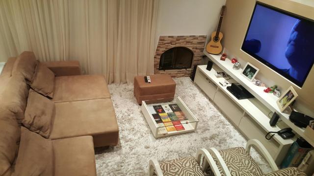 Sofa 5 lugares com chaise em couro ofertas vazlon brasil for Sofa 03 lugares com chaise