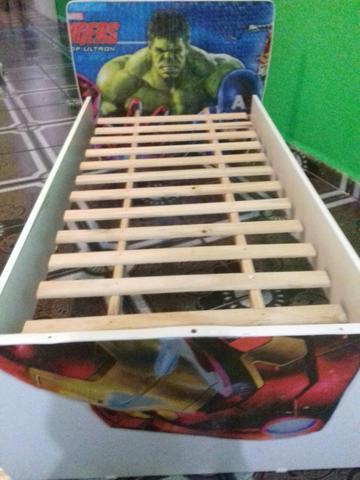 b0b0837fbb cama infantil vingadores semi nova   OFERTAS