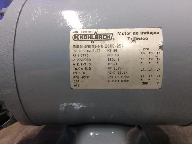 Motor kohlbach 5 cv ofertas vazlon brasil for Motor piscina 0 5 cv