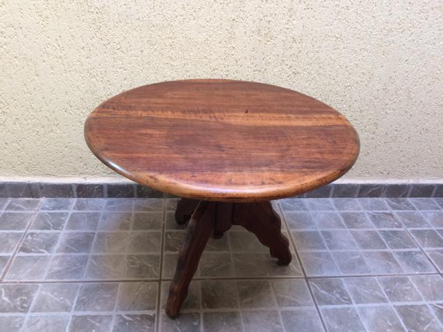 Mesa de centro de madeira redonda ofertas vazlon brasil - Mesa centro redonda ...