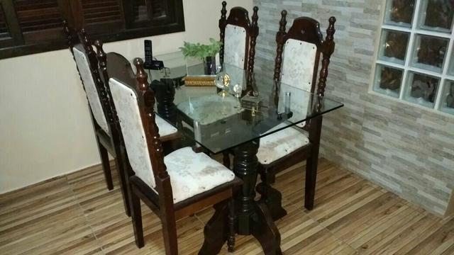 Jogo de mesa colonial feito por medida vazlon brasil for Mesas estilo colonial