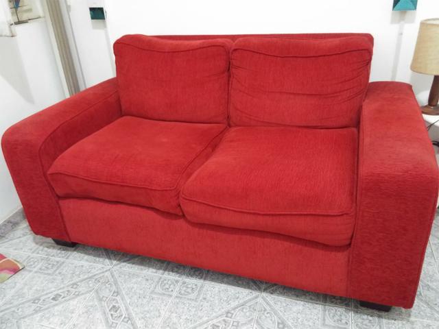 Sofa 02 lugares impecavel em tecido impermeavel na cor for Sofa 02 lugares