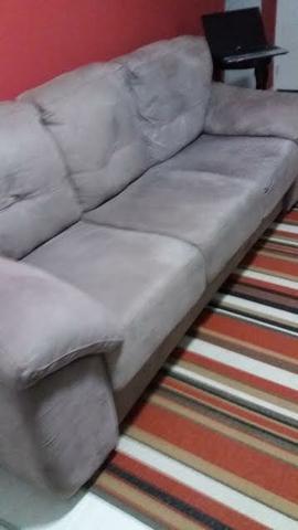 e003482aa sofa 3 lugares luizzi atrative em tecido suede veludo azul petroleo ...