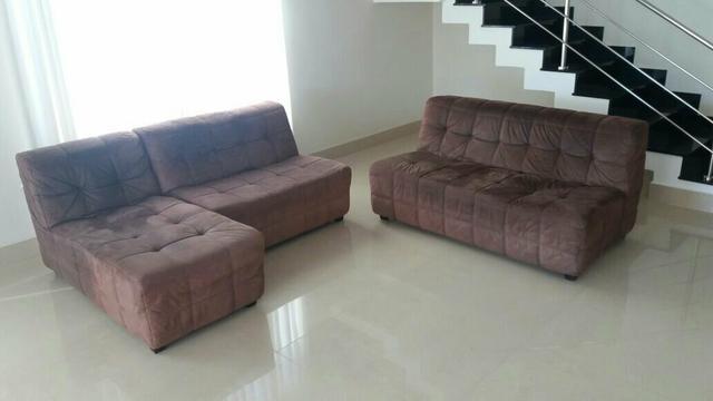 Sofa de canto 5 lugares chaise ofertas vazlon brasil for Sofa 5 lugares com chaise