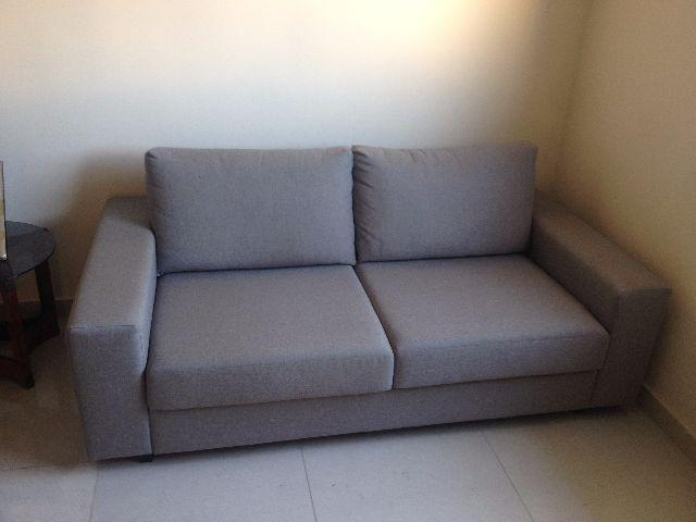 sofa linho cinza [ OFERTAS ] | Vazlon Brasil