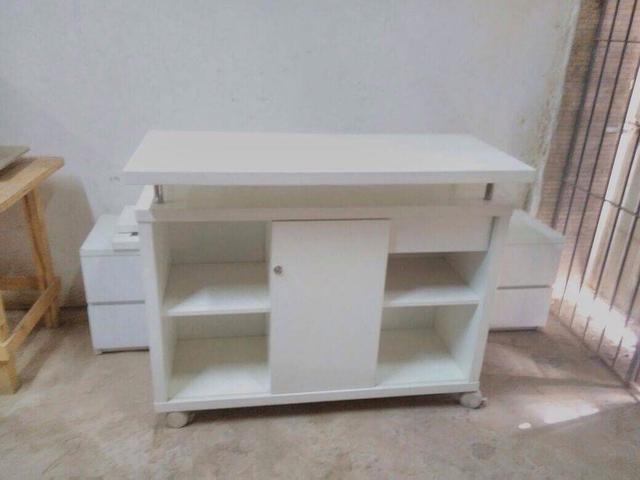 Artesanato Em Mdf Novo Hamburgo ~ aparador ou rack branco laqueado lindo e moderno [ OFERTAS ] Vazlon Brasil