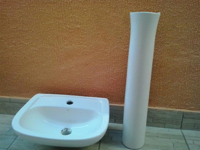 conjunto pia coluna deca para banheiro novo  Vazlon Brasil -> Conjunto De Banheiro Vaso E Pia